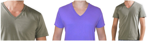 Men's t-shirt,  short sleeve, Deep V-neck